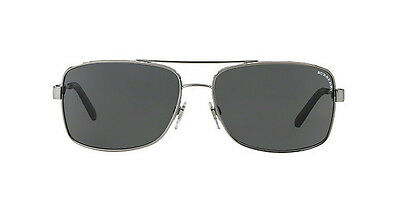 NWT Burberry Sunglasses BE 3074 1003/87 Gunmetal / Gray 63 mm BE3074 100387 (Burberry Men Sunglasses)