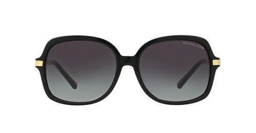 NWT Michael Kors Sunglasses MK 2024 316011 Black Gold / Gray Gradient 57 mm NIB