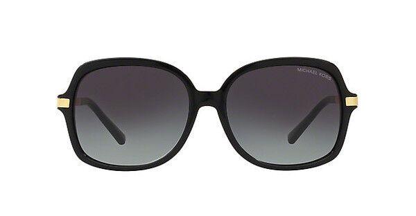 NWT Michael Kors Sunglasses MK 2024 316011 Black Gold / Gray