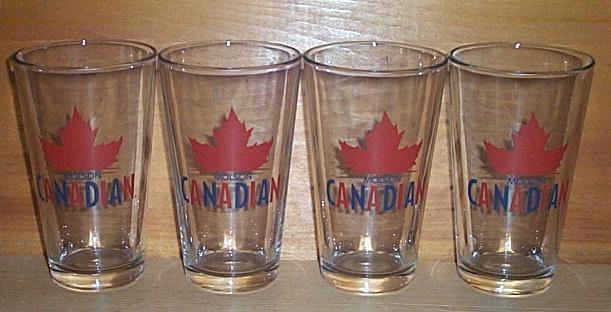 MOLSON CANADIAN  4 BAR PUB BEER PINT GLASSES NEW