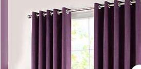 Dark purple black out curtains