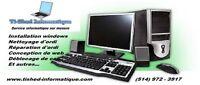 Service de réparations d'ordinateurs sur place et à domicile