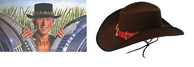 Boys Mens Unisex Hunter Explorer Crocodile Dundee Adventurer Jungle Teeth & Hat
