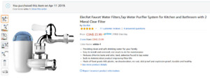Tap water filter - Brand new