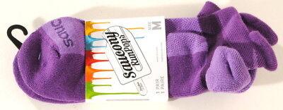 Saucony Purple RunPops Socks, Running Performance Colored Sock Sz Medium (Medium Violet)