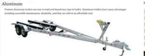 Aluminum tandem trailer(s)  - Venture VATB7225  & 5925(lb)-bunk