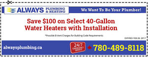 Not Enough Hot Water? Time for a New Hot Water Tank SAVE today!