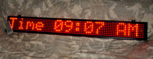 """Red Color Text LED Indoor Sign - 50"""" x 6"""" - Scrolling - Messages"""