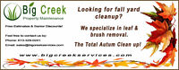 Professional Fall Lawn Cleanups, Lawn Maintenance, Landscaping.