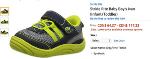 several pairs of brand new in box stride rite shoes