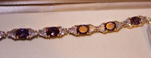 Costume jewellery:  lady's 'purple amethyst-topaz' bracelet Kingston Kingston Area image 2
