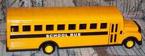 Metal school bus