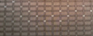Brown vinyl with basketweave pattern for upholstery & crafts