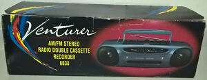 Venturer Radio Double Cassette Recorder Portable