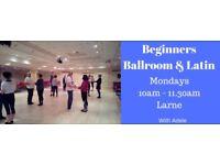 Beginners Social Ballroom & Latin Class - Larne - Mondays 10am - 11.30am from 12th March 2018