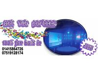 Hire a 8 man Hot Tub Cinema package from Partypod Scotland. 1, 2 or 3 Hot Tub packages available