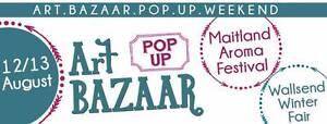 Art Bazaar Pop Up Weekend - 12/13 August 2017 - Maitland + Wallse Warners Bay Lake Macquarie Area Preview