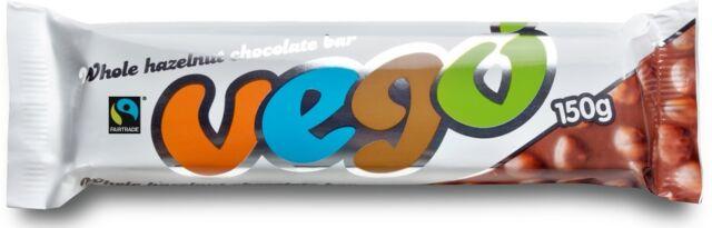Vego Whole Hazelnut Chocolate Bar 150g (Pack of 30)