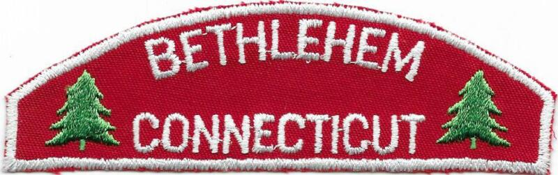 Bethlehem Connecticut RWS Red and White Community Strip Boy Scout of America BSA