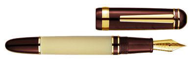 Laban New Rainbow Pearl Burgundy Medium Point Fountain Pen  LB-TF-325BRI-M for sale  Brea