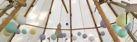 Over 20 pastel paper lanterns from Paper Lantern Company