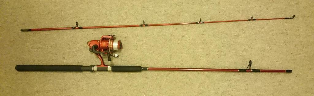 shakespeare firebird xt fishing rod 7 foot and case in tiptree