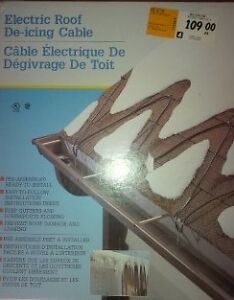 Roof deicer cable