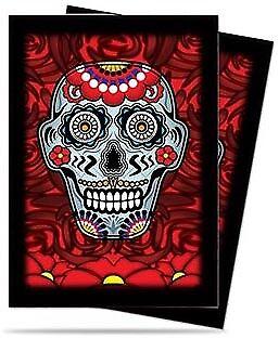 Dia De Los Muertos Skull Sleeves (50ct) - Blue Ultra Pro GAMING SUPPLY BRAND NEW (Dia De Los Muertos Supplies)