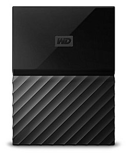 WD My Passport 1 TB Portable Hard Drive, Black