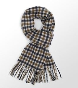 Aquascutum 100% Lambswool Scarf.  Brand New with Tags