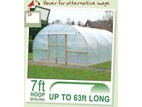 Polytunnel 21' x 14' almost all new