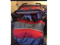 Emmaljunga twin cerox sportvagn double pram RRP over £1000