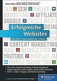 Erfolgreiche Websites: SEO, SEM, Online-Marketing, Kunde... | Buch | Zustand gut