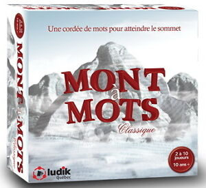 MONT À MOTS CLASSIQUE LUDIK QUÉBEC ÉTAT NEUF TAXES INCLUSES