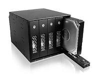 Icy Box IB-545 Series SATA/SAS TrayLess 3.5 Inch Backplane and 4x SATA HDD