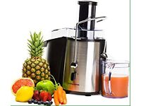 JUICER DETOX DIET FRUIT VEGETABLE JUICE HEALTHY MEAL BLACK SILVER KITCHEN BLENDER MIXER WEIGHTLOSS