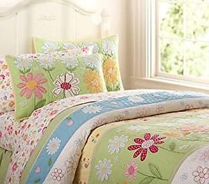 Girl's Pottery Barn Quilt & Curtains