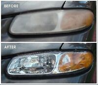 Headlights restoration for just $20(both) and less then 10 minut