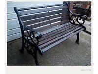 refurbished bench very heavy cast iron