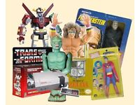 wanted OLD TOYS Matchbox Dinky Corgi Scalextric Hornby Tamiya Lego Meccano Airfix Star Wars etc