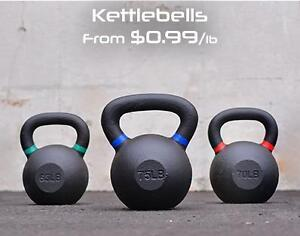 Cast Iron Kettlebells - Available in 5lbs - 75lbs  - Brand New