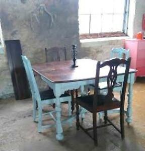 Dining table & 6 chairs -> Need it gone asap!!