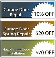 $29 GARAGE DOOR REPAIR SERVICE LONDON / 30 Min RESPONSE CALL