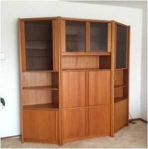 Teak Veneer Entertainment Unit