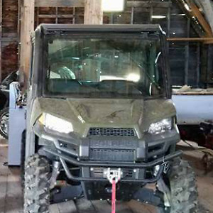 Polaris Ranger mid size GLASS tip-out windshield