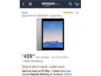 iPad Air 2 64GB WIFI + Apple Smart case