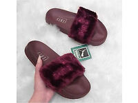 Fenty Puma Rihanna Sliders Sandals Trainers Size 5 5.5 6 Fur Nike