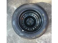 Vauxhall Corsa D spare wheel with new tyre 185/65 R 15