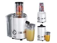 Russell Hobbs 3-in-1 Juicer, Press and Blender 22700 - White