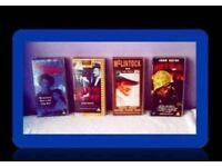 CLASSIC JOHN WAYNE FILMS - (4) - VHS TAPES - FOR SALE